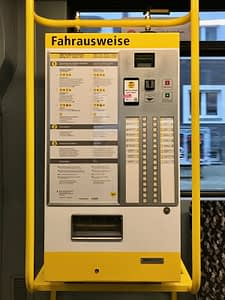 Berlin Tram ticket machine