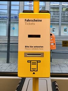 Berlin ticket validation machine