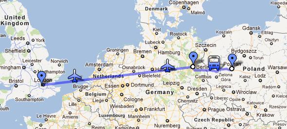 Poznan to Berlin to London