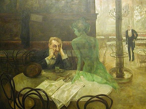 Viktor Oliva: The absinthe drinker 1901
