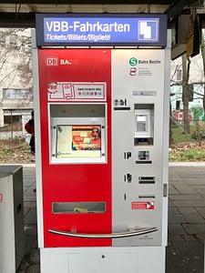Berlin S-Bahn ticket machine