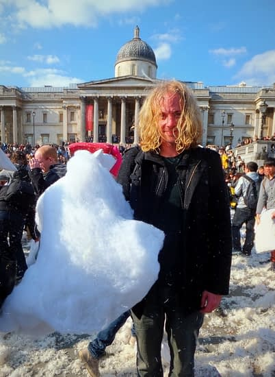 Me after World Pillow Fight Day in London