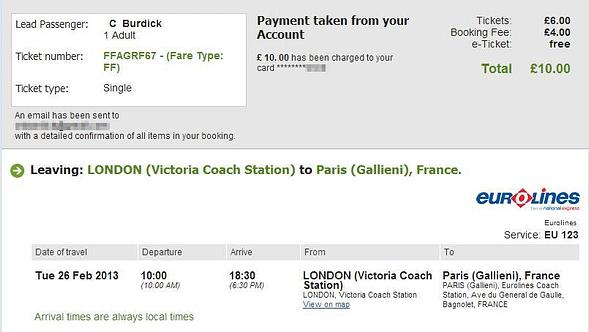 London to Paris - National Express