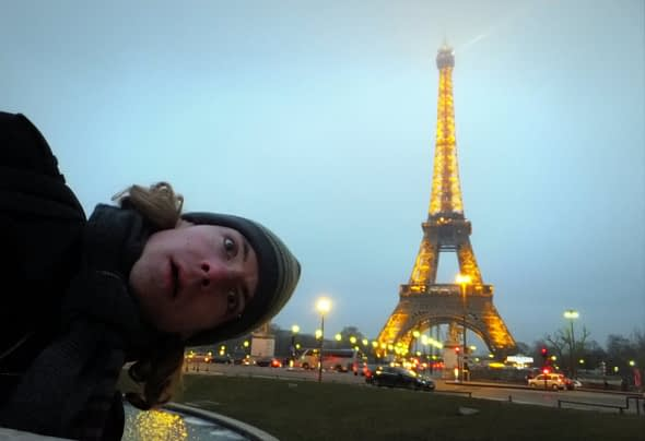 Me, being an idiot in Paris